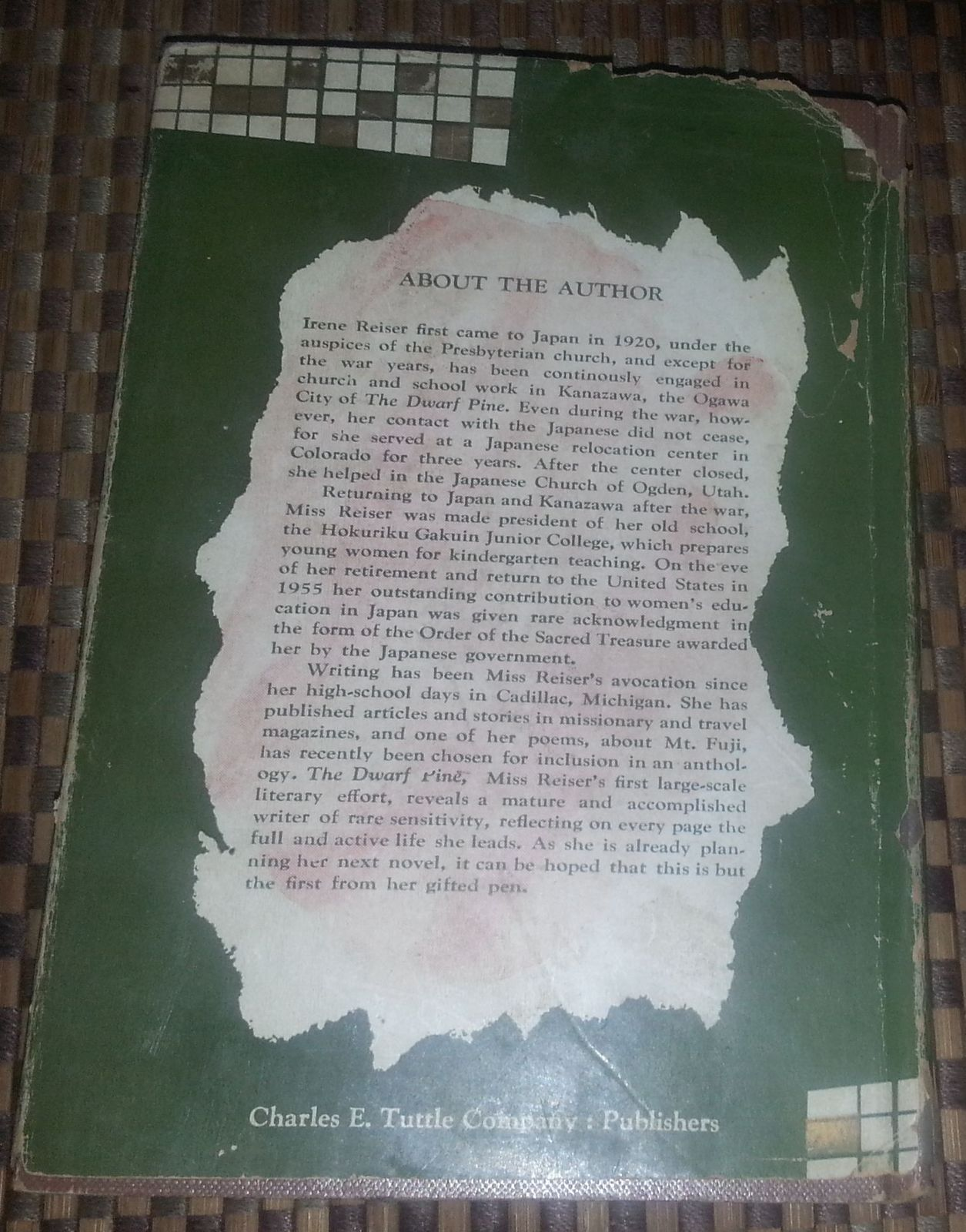 The Dwarf Pine by A. Irene Reiser 1958 HBDJ Family Life in Japan