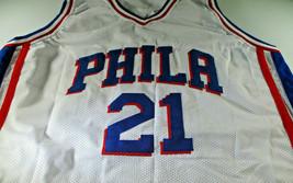 JOEL EMBIID / 2021 NBA ALL-STAR / AUTOGRAPHED 76ERS WHITE CUSTOM JERSEY / COA image 2