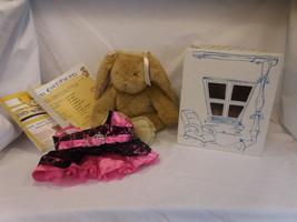 "Build A Bear Brown Bunny Rabbit Plush Animal 15"" + Box + Hello Outfit + ... - $16.02"