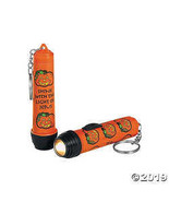 Religious Pumpkin Flashlight Key Chains - $7.74