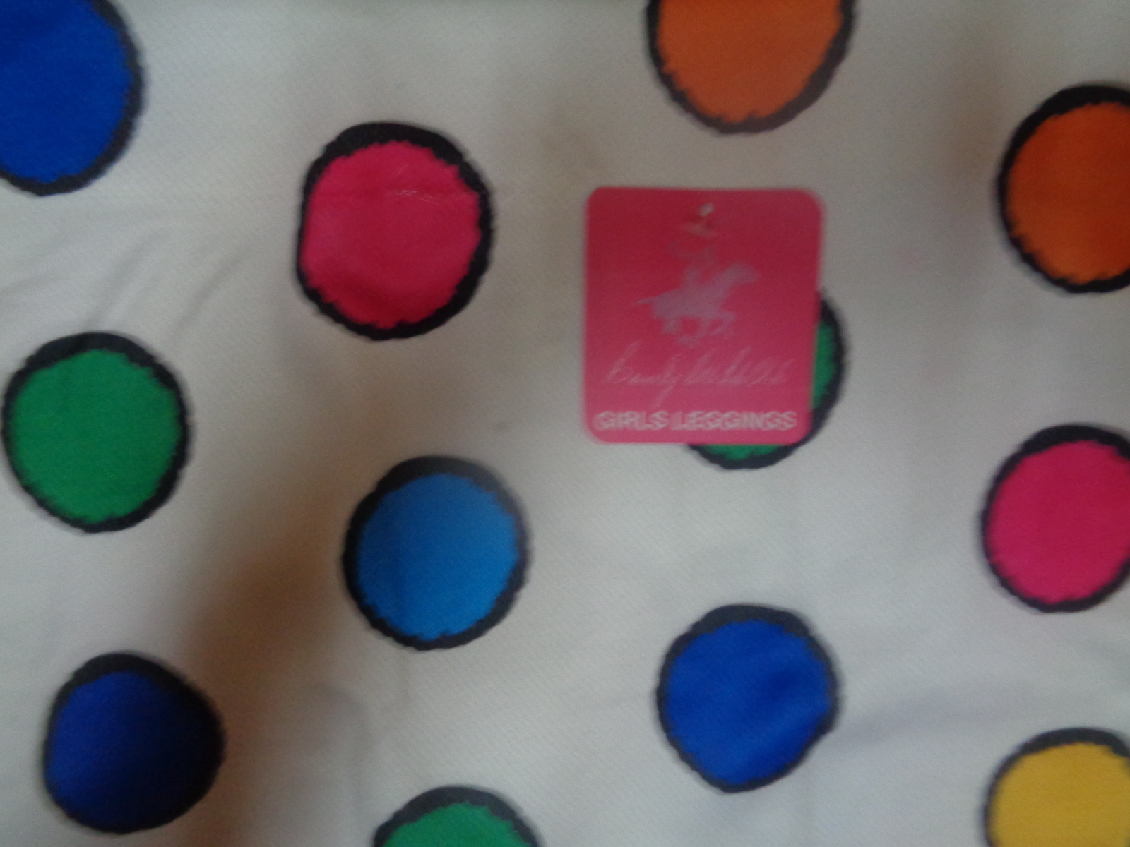 Youth Girls Leggings Polka Dot NWT Beverly Hills Sz 2-4