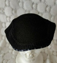 Tommy Hilfiger Black Cabbie Hat Cap Casual Newsboy - $14.54