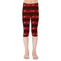 Christmas Mickey & Minnie Sweater Pattern Disney Inspired Kids Capri Leggings - $35.99 - $38.99