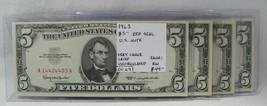 1963 $5 Red Seal U.S. Note VCH CU PC-404 - $42.50