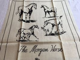 VTG NOS Kay Dee MORGAN HORSE Linen Kitchen Tea Towel image 5