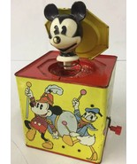 1950's Vintage Carnival Jack in box Mickey Mouse Disney NOT WORKING PARTS - $18.69