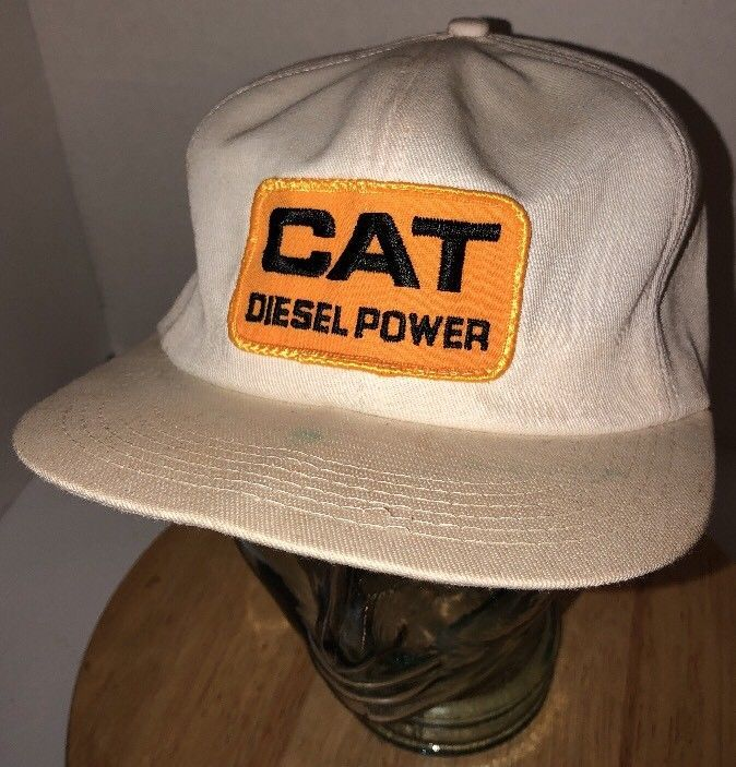 6cfadaa49bd S l1600. S l1600. Previous. Vintage CAT DIESEL POWER 80s USA K-Products Caterpillar  Trucker Hat Cap Snapback
