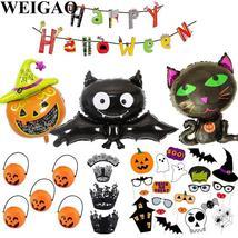 WEIGAO Halloween Decoration Horror Bunting Flags For Kids Bat Pumpkins S... - €1,18 EUR+