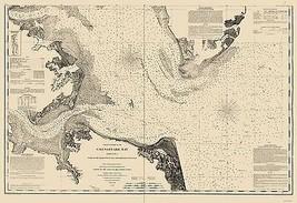 Chesapeake Bay, York River - Williams 1863 - 23 x 33.46 - $36.95+