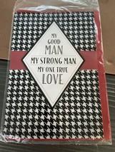 My Good Man Strong True Love Gift Card Envelope Hallmark - $7.19