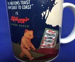 Kelloggs Toasted Corn Flakes Mug London Baked Bear VTG COffee Cup 1984 E... - $8.86