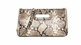Michael Kors Rosalie Python Embossed Large Clutch Natural 30S6GS5C3N - $124.90