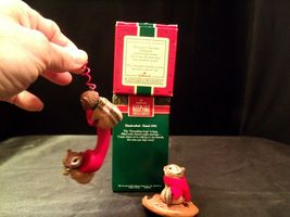 Hallmark Handcrafted Ornaments Friendship Line & Chocolate Chipmunk AA-191794 Co image 4