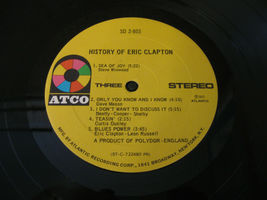Eric Clapton History Of Atco SD 2-803 Stereo Double Vinyl Record LP image 7