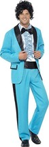 Smiffy's 1980 80's Prom King Blue Tuxedo Adult Mens Halloween Costume 43194 - $32.94