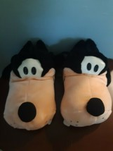 Vintage The Disney Store Slippers Goofy Adult Size Small 7/8 Plush Big Jumbo - $44.50