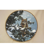 WINTER VIGIL collector plate GREAT HORNED OWL Seerey-Lester NOBLE OWLS - $29.99