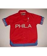 Philadelphia Sixers 1966 NBA Nike Boys Red Throwbacks Shooting Shirt War... - $39.59
