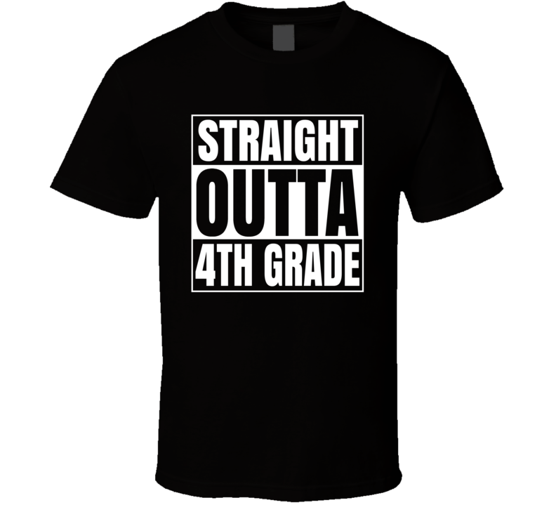 Primary image for Straight Outta 4th Grade Compton Style Kids T Shirt