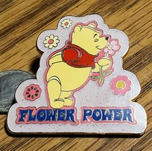 Disney Pin Sparkle Power Core Pins Winnie the Pooh Flower Power Glitter ... - $19.34