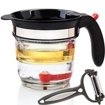 Best 4 Cups Gravy Separator and Fat Separator 32 Ounces Makes Healthier ... - $26.02