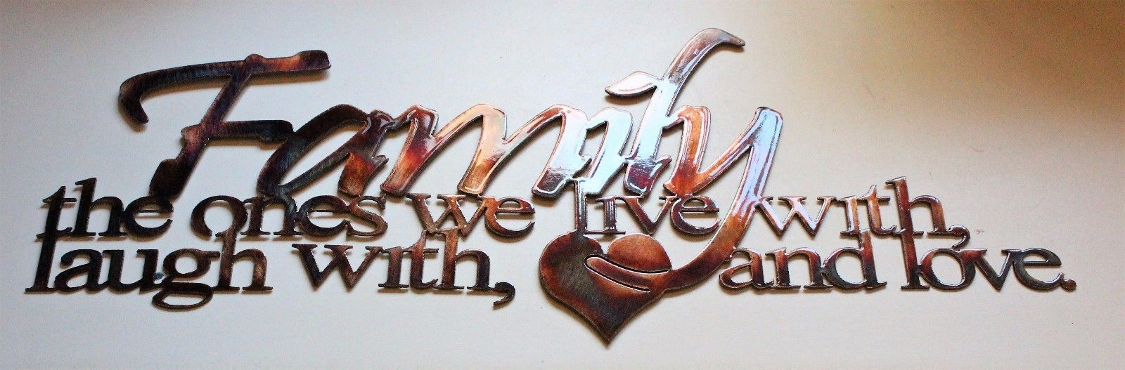 Family Metal Wall Art family the ones we live with laugh with and love metal wall art
