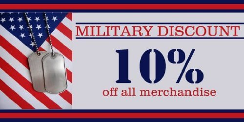3x6 Vinyl Banner - Military Discount