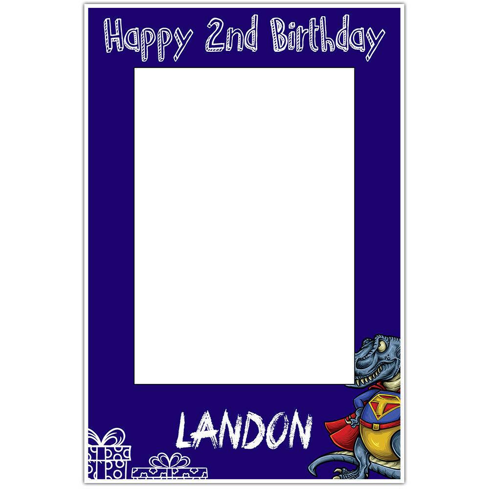 Basketball Burning Birthday Selfie Frame Poster