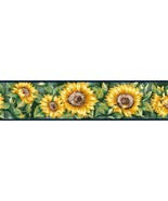 Navy Blue Sunflower 41678110 Wallpaper Border - $19.90
