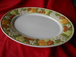 Outstanding VERNON WARE by Metlox DELLA ROBBIA Handpainted Large PLATTER - $10.11