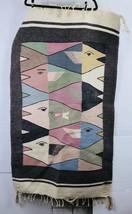 "Hand Knotted Vintage Afghan Prayer Wool Area Rug 29"" X 50"" - $44.54"