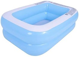 Inflatable Swimming Pool, Wear-Resistant Thick Marine Ball Pool, Rectangular Sum - $37.00