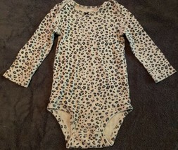 Carters Infant Girl Long Sleeve Body Suit Cheetah Print *SIZE 18M*  - $8.42