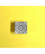 Sqaure design wooden small block clay stamps heena print textile design ... - $11.81