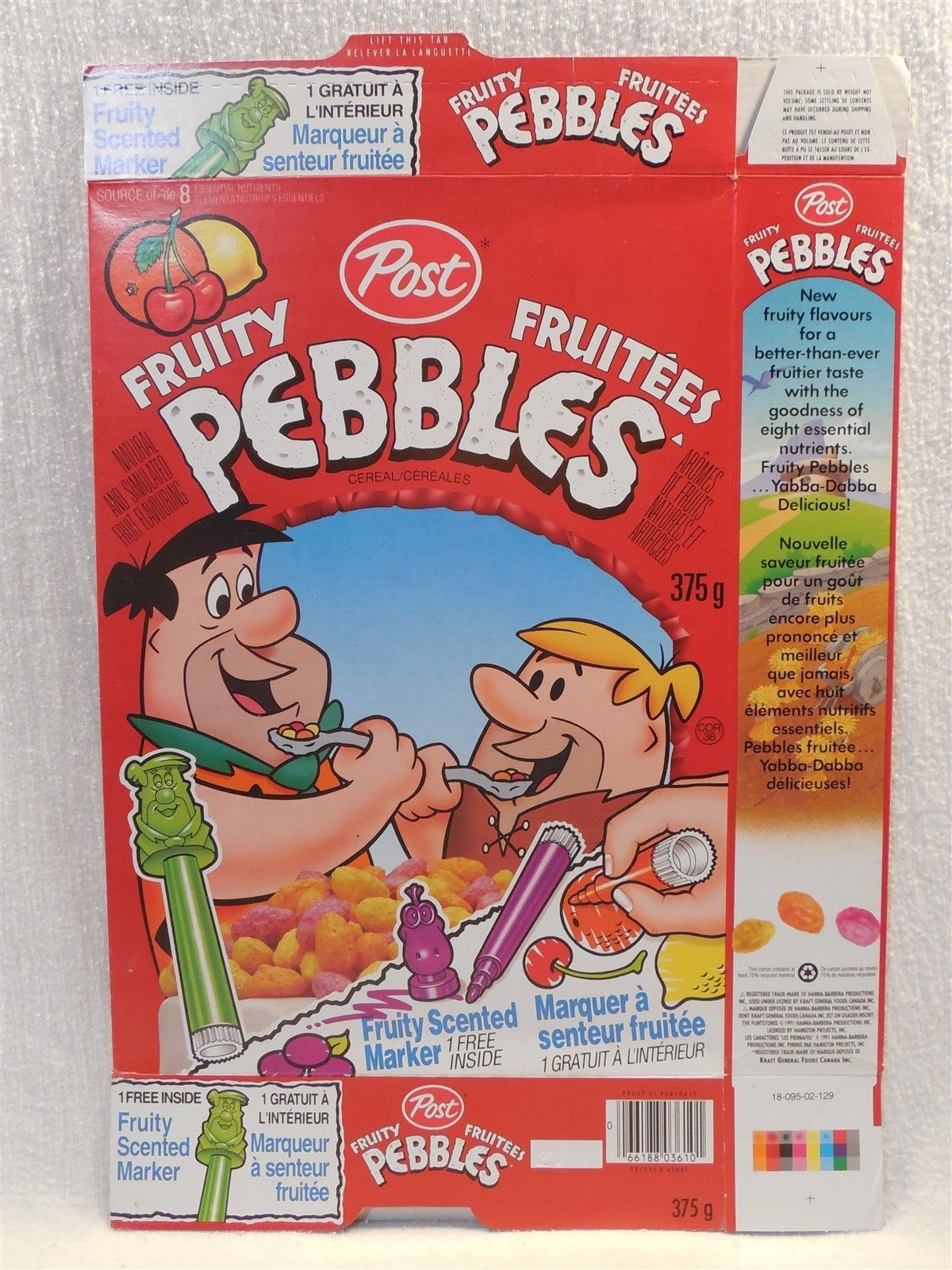 Flintstones 1991 Post Fruity Pebbles Cereal and 50 similar items