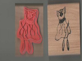 wooden rubber stamp clothing new ideal papercraft,tool,lots of other crafts. Woo