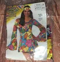 Forum Womens Groovy Go-go Dress Sz M Halloween Costume  Sexy - £7.67 GBP