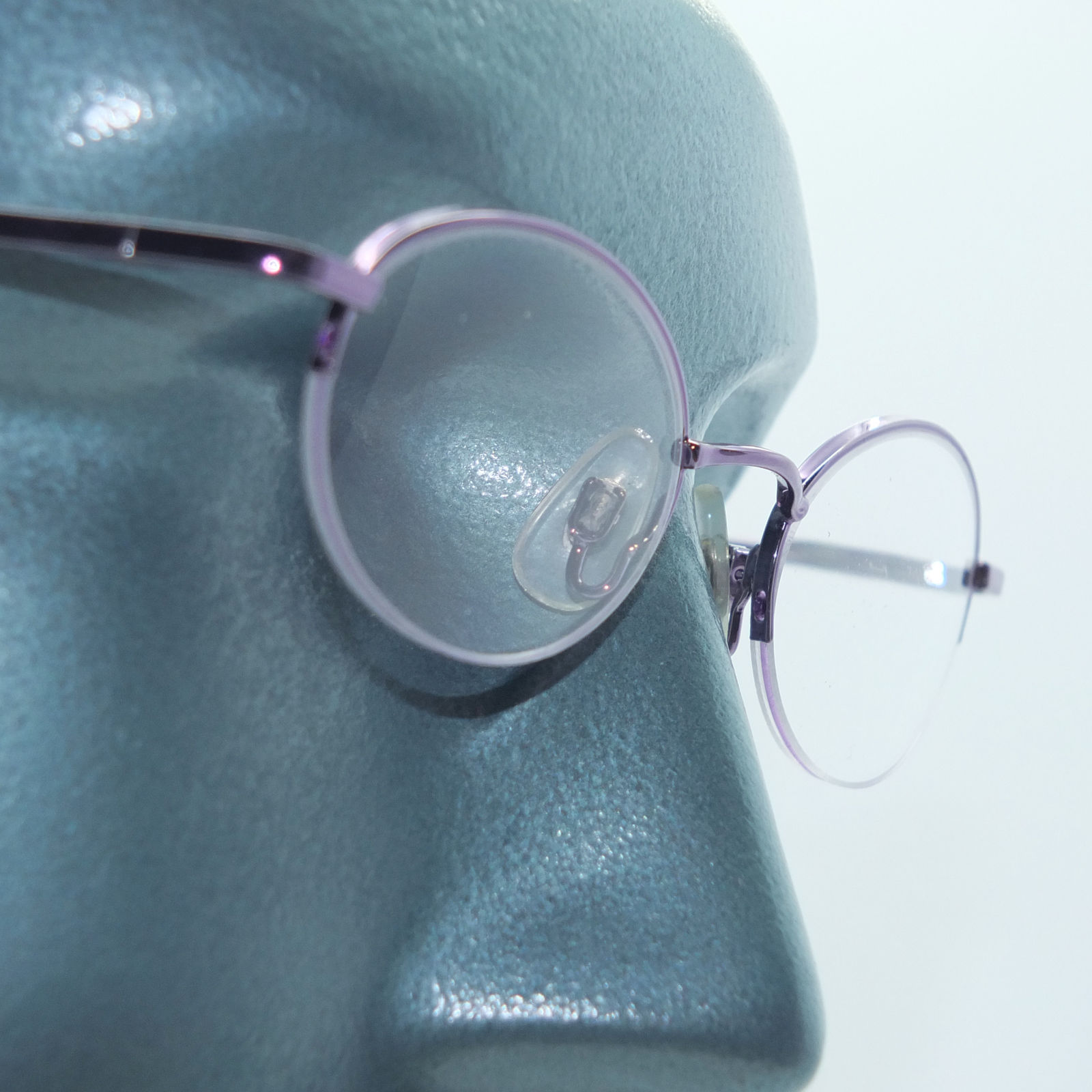Primary image for Petite Semi Frameless Bottomless Hint Of Tint Amethyst+1.00 Reading Glasses