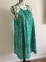"Old Navy Lined Sundress Size L Cotton Lacey Bottom Green Dress "" Free Sh... - $22.00"