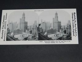VINTAGE KEYSTONE STEREOVIEW NEW YORK CITY WOOLWORTH BUILDING - $2.48