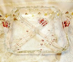 Vintage Mikasa Bella rose Glass Serving Dish image 1