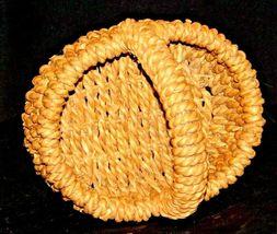 Handmade Woven Wicker Basket with Handle AA-191713 Vintage Collectible image 5