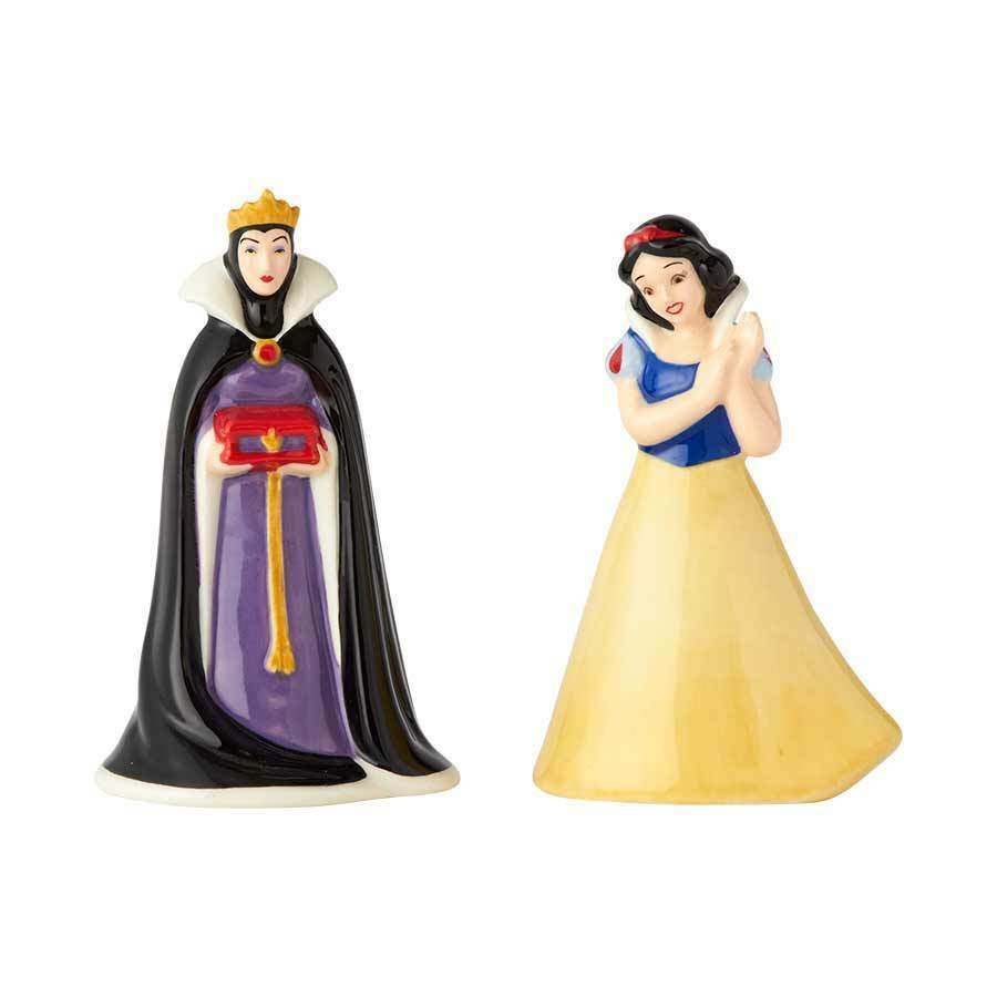 Walt Disney Snow White and the Evil Queen Ceramic Salt & Pepper Shakers Set NEW