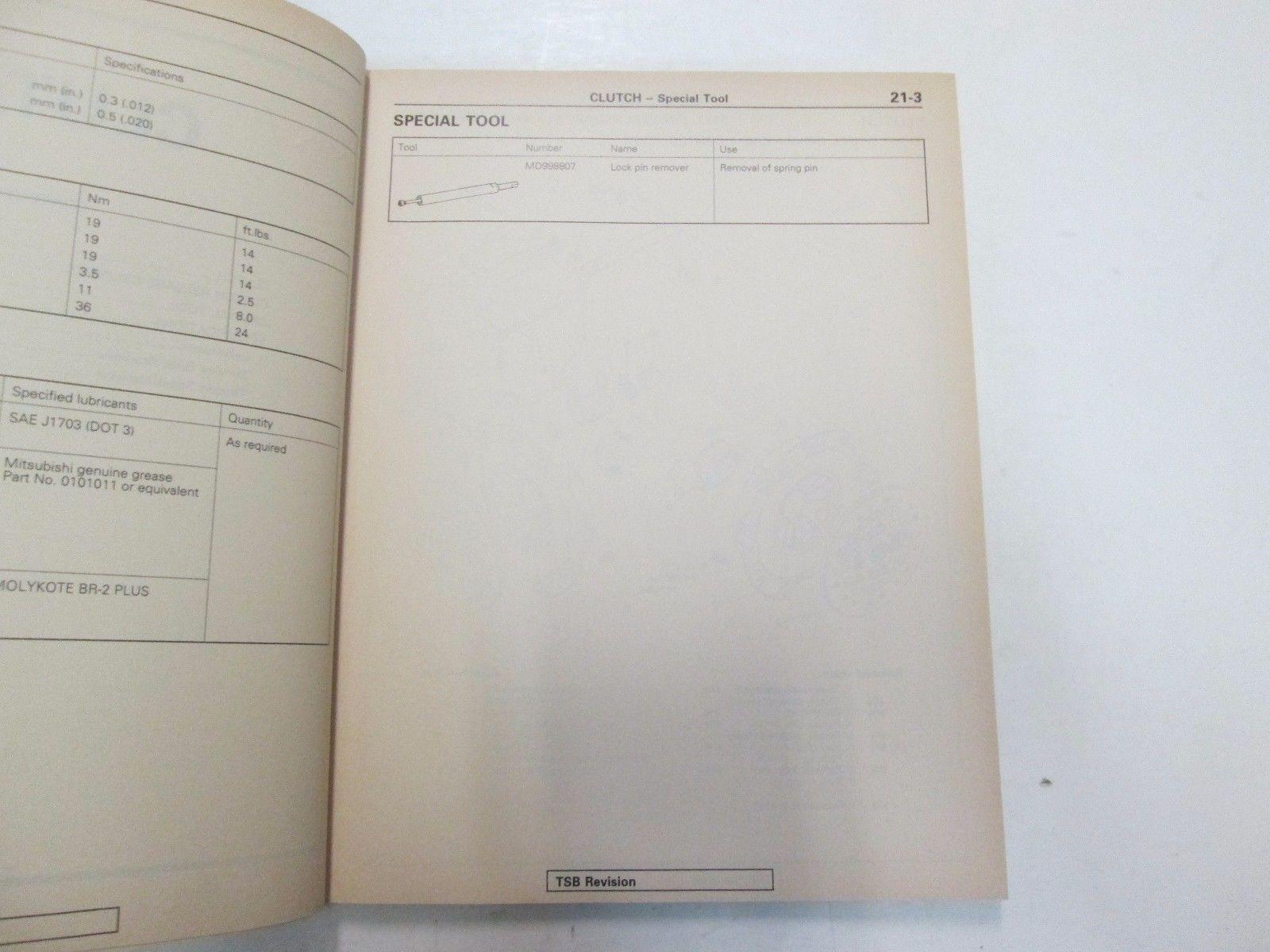 1992 Mitsubishi Overhaul Manual Transmission Service Repair Manual WORN OEM 92