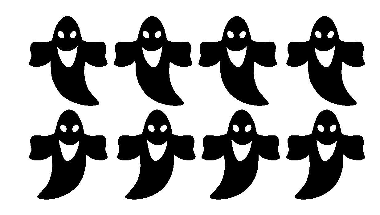 Halloween Ghost Window Decal Sticker Sheet Set party cups tumblers FREE SHIPPING