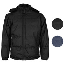 Men's Heavyweight Insulated Lined Jacket with Removable Hood BIGBEAR