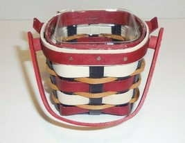 Longaberger 2017 Host Only Everyday USA Itty Bitty Booking Basket & Protector - $52.46