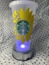 Sunflower And Butterfly Starbucks Venti Frosted tumbler - $22.77