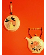 Vintage Home Interiors Wall Plaques Kitchen Decor Set Of 2 1997 USA # 3309 - $18.32