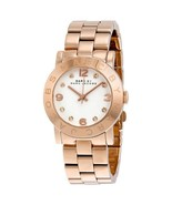 Marc by Marc Jacobs MBM3077 Watch Amy White Rose Gold Tone Ladies - $157.00